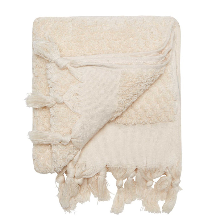 RAINBOW SOLID HAND TOWEL - NATURAL
