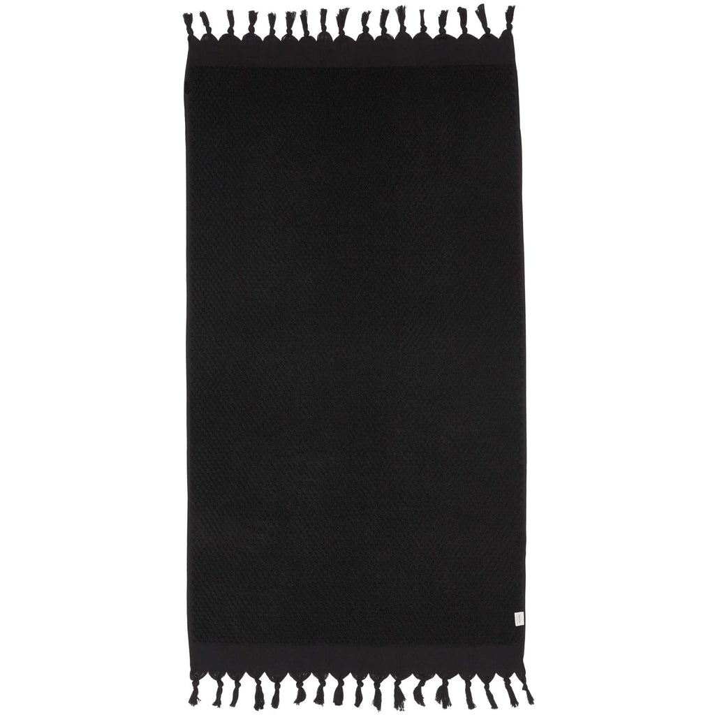 RAINBOW SOLID TOWEL - BLACK