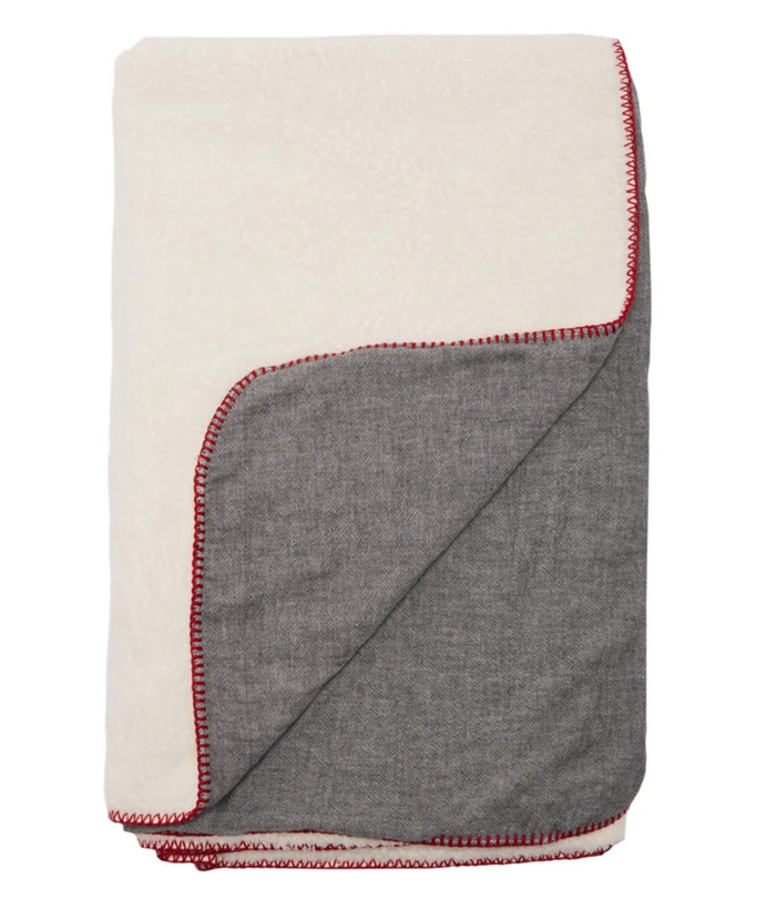 AMITY THROW - CHARCOAL/WHITE