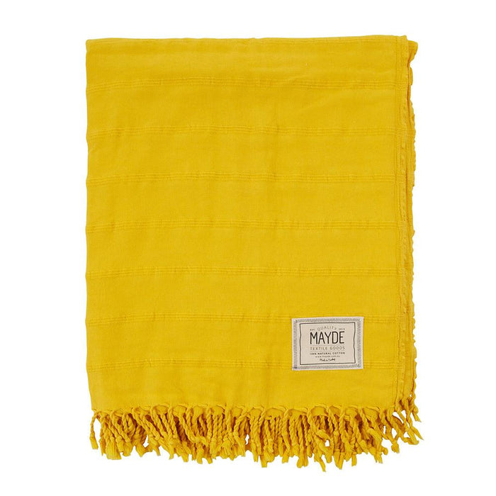 AVALON BEACH BLANKET - MUSTARD YELLOW