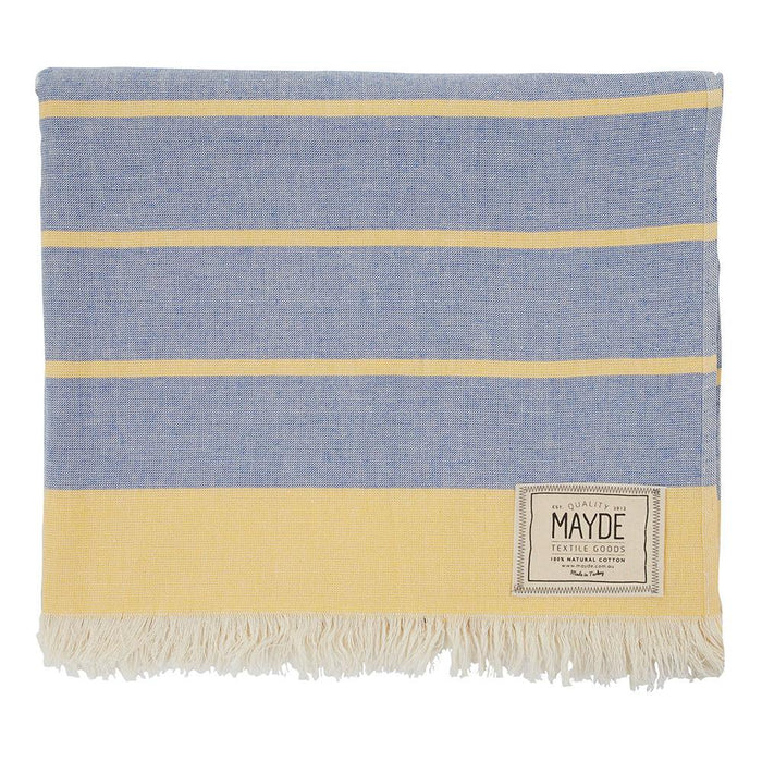 COTTESLOE TOWEL - DENIM / MUSTARD