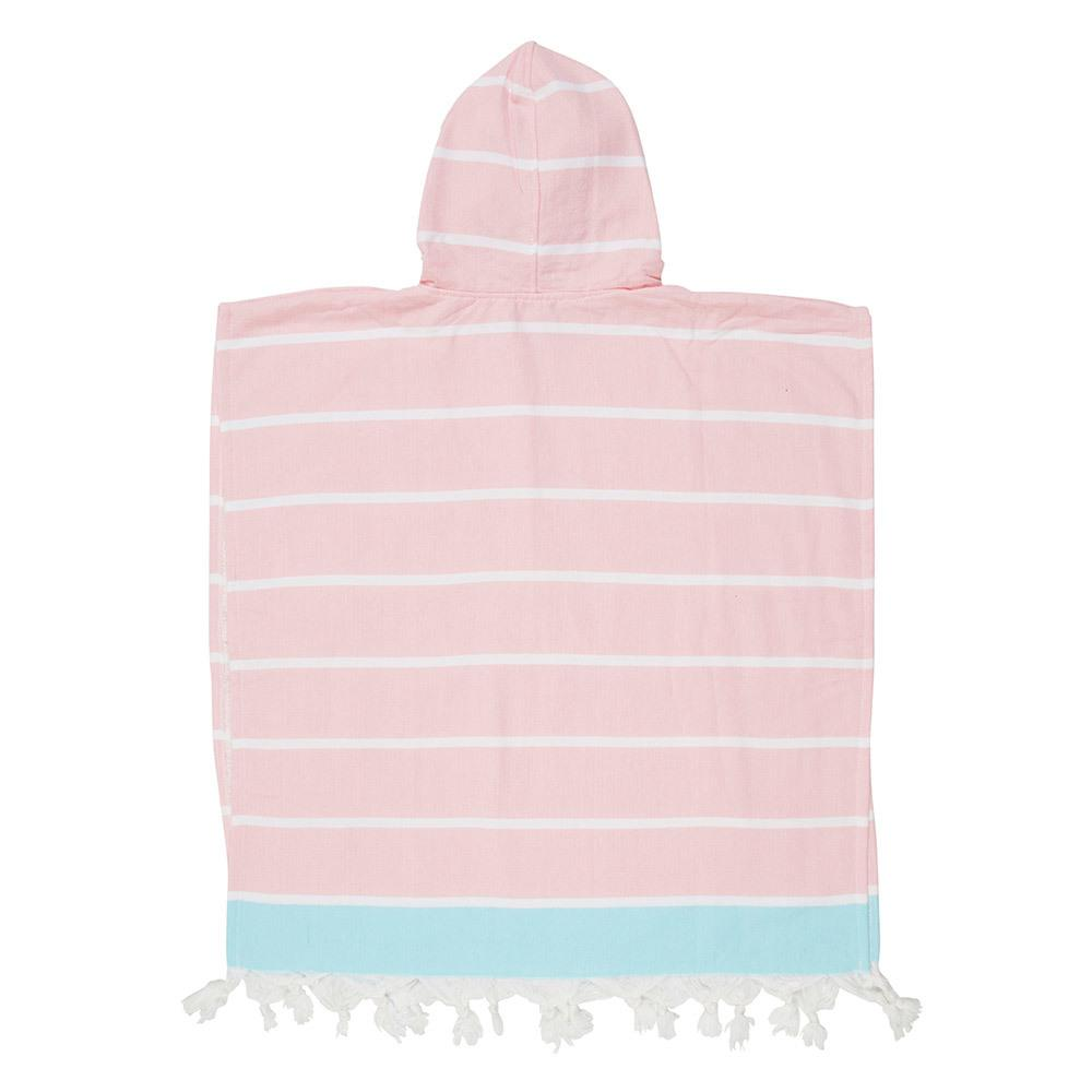 KIDS SHELLY PONCHO - PINK / MINT