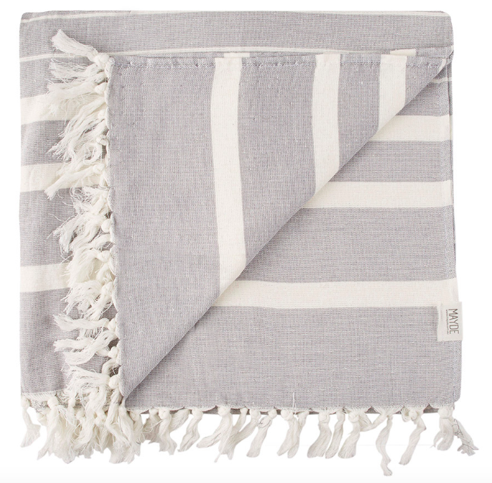 NEWPORT TOWEL - CHARCOAL