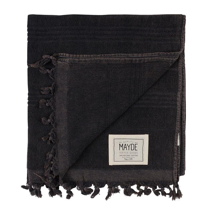 MIDDLE COVE TOWEL - CHARCOAL