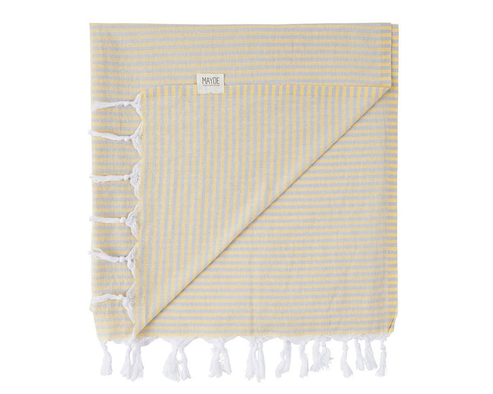 NOOSA TOWEL - YELLOW / GREY