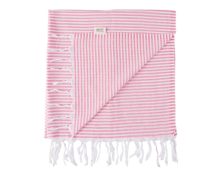 NOOSA TURKISH TOWEL - HOT PINK