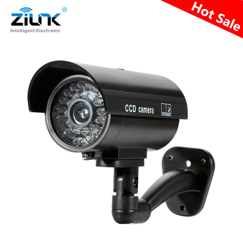 Fake Dummy Camera Waterproof Red Flashing Light