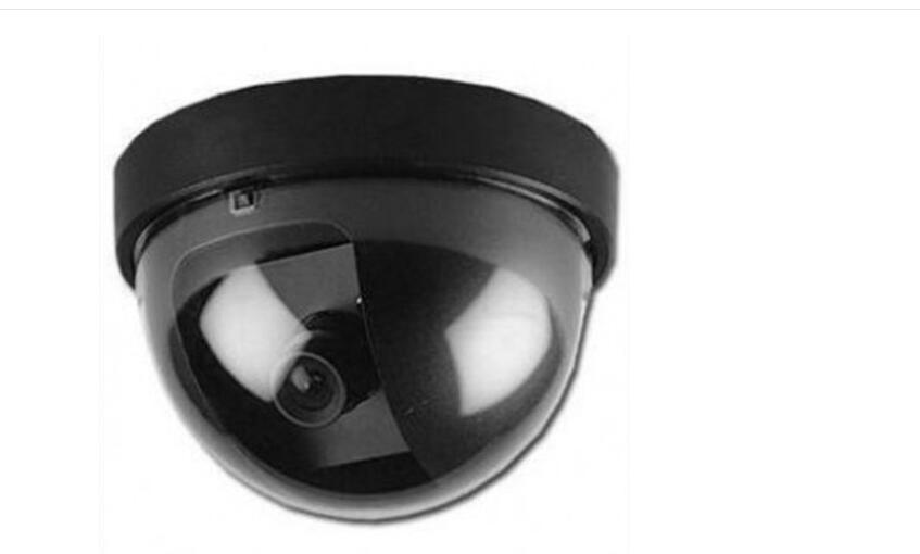 Fake Outdoor Surveillance Camera CCTV Security Dome Camera with Flashing Red LED Light