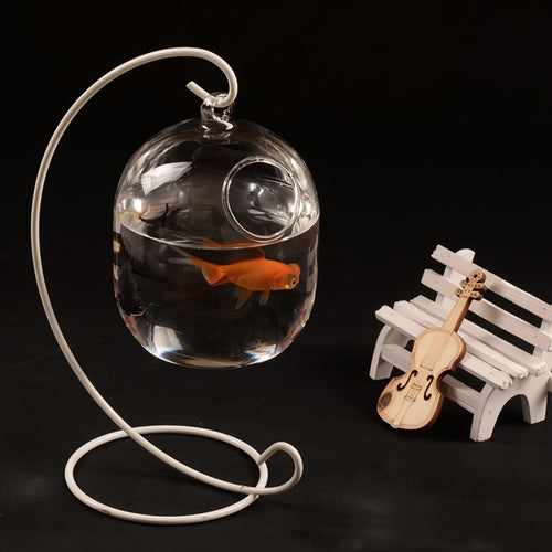 Hanging Glass Fish Bowl Aquarium