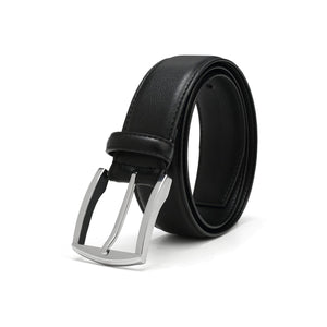 Metallic Silver Square 2 Belt - Vegan - NF