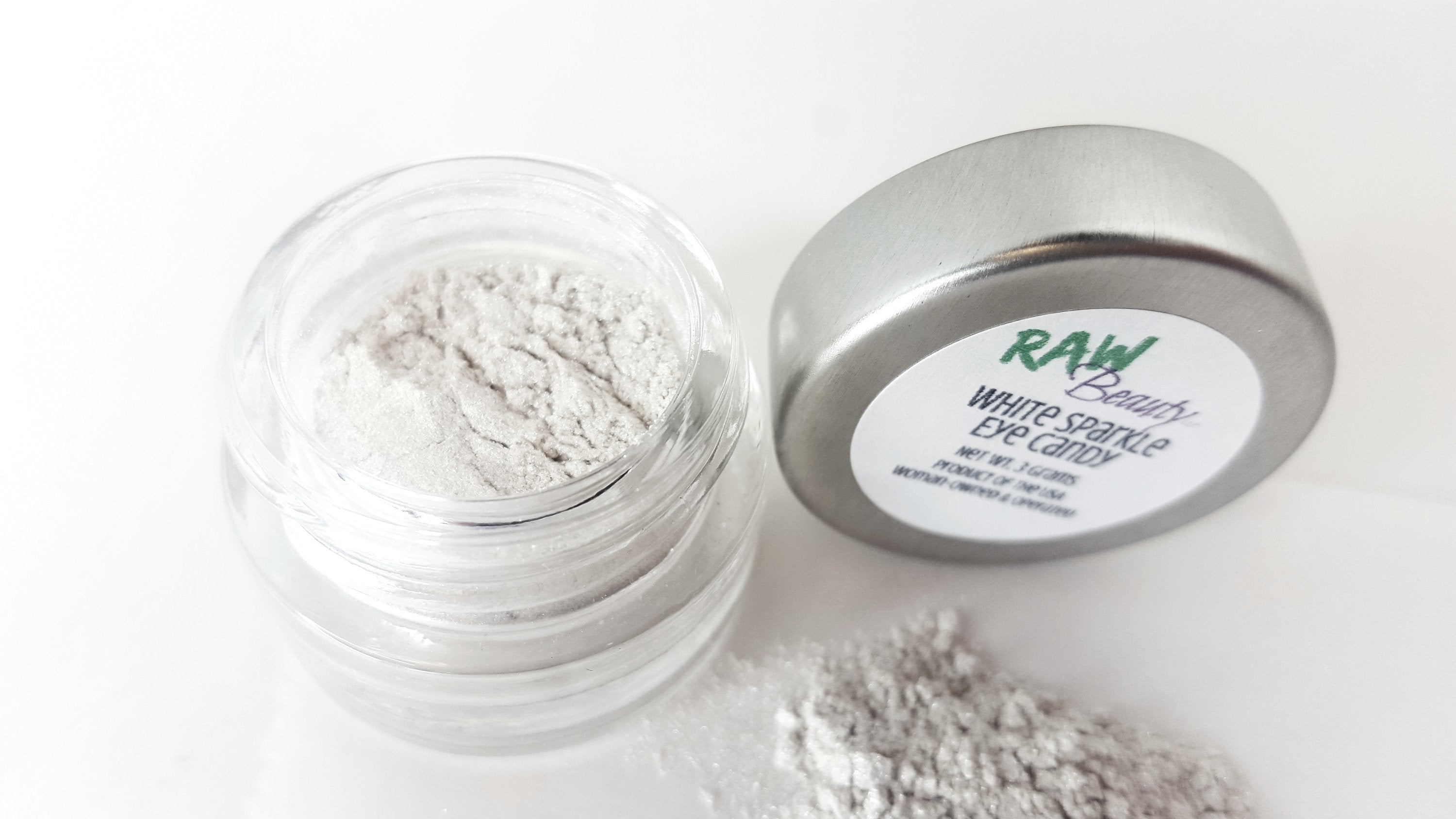 White Sparkle Loose Eye shadow | Raw Beauty