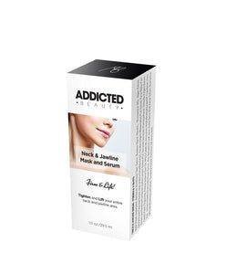 Addicted Beauty Neck and Jawline Mask & Serum