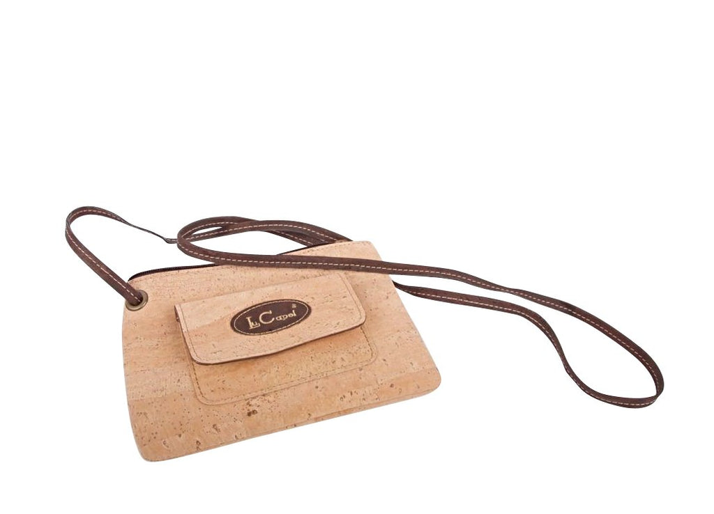 Vegan Bag.  Crossbody Strap.  100% Vegan Cork
