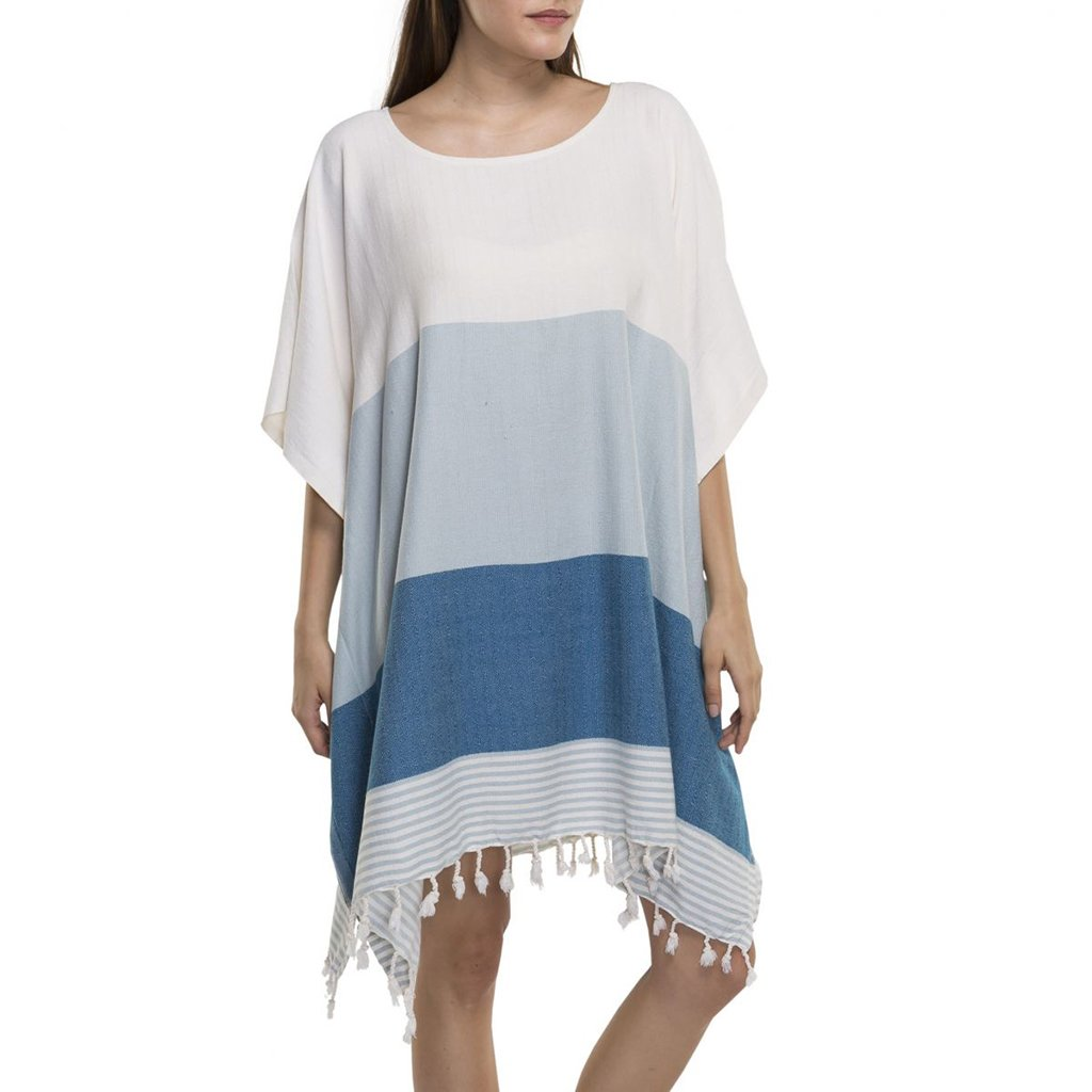 Sky Color Block Turkish Tunic
