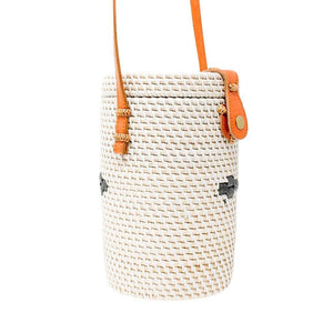 SARAH - Straw Rattan Shoulder Bag