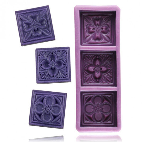 "Moule en silicone ""Celtic flowers"""