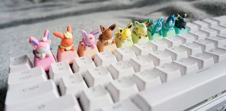 Minterly Eeveelution Series Keycaps