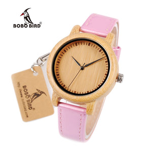 Montre BOBO Bird LOUNA rose - femme