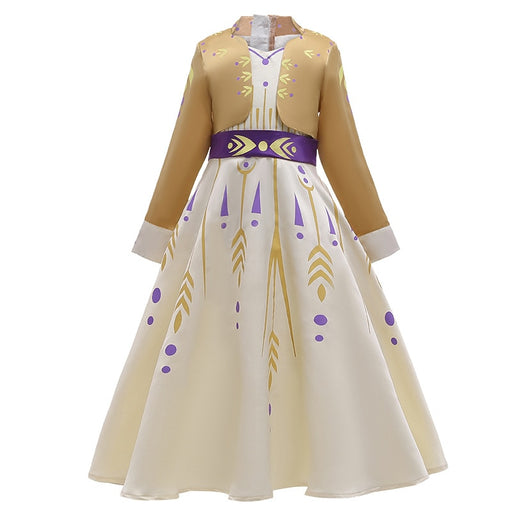 Frozen 2 Princess Elsa Anna Costume Cosplay Dress Ice Snow Queen Kids Outfit