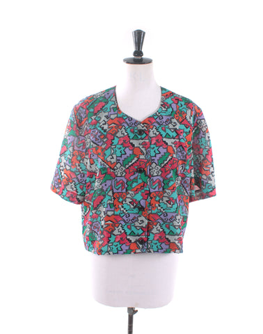 Upcycled Vintage 80s top by Kitten Vintage