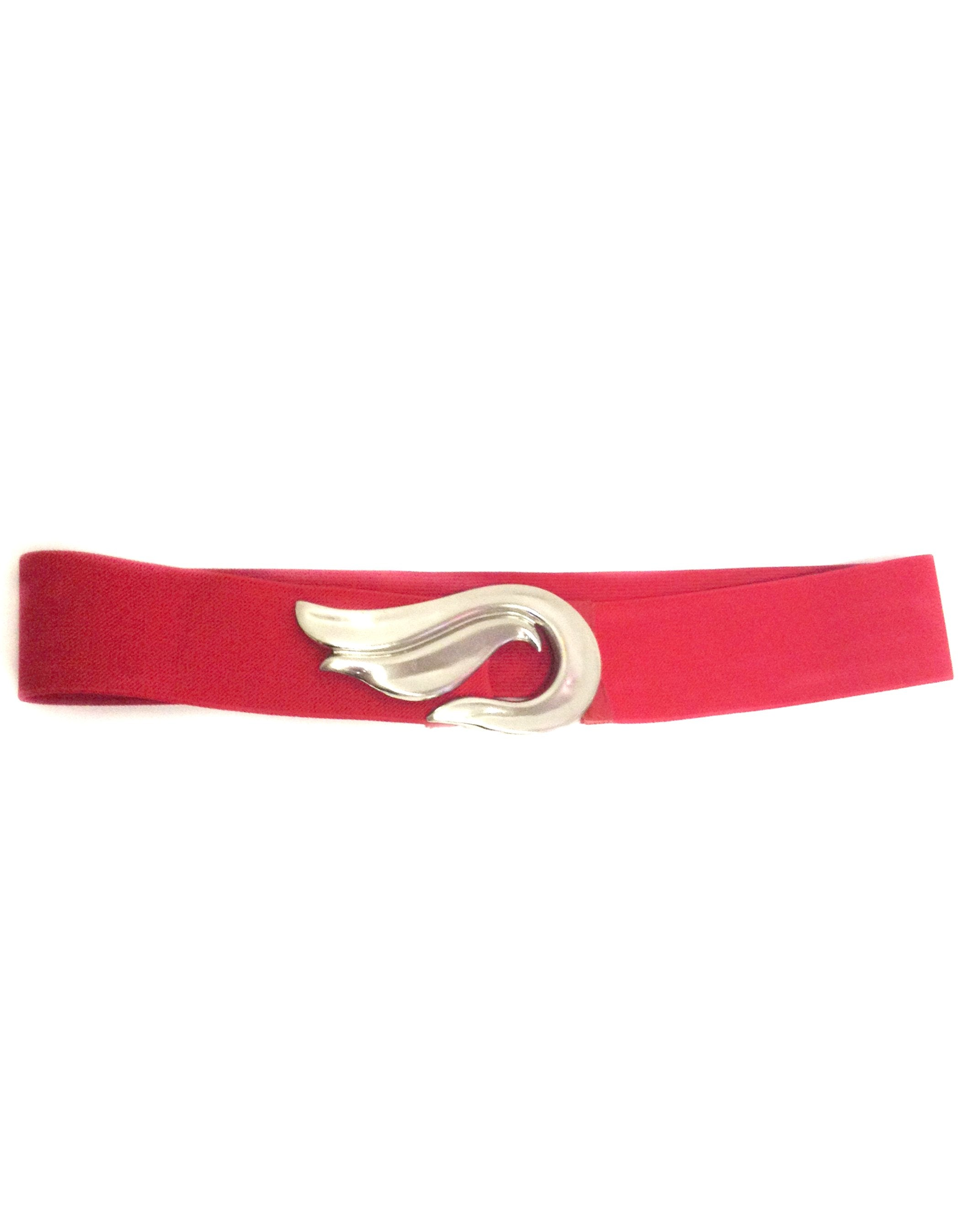 Vintage Red Elastic Stretch Cinch Belt