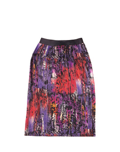 Blurred Print Skirt