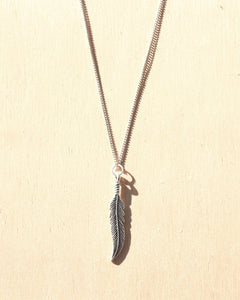 KV Handmade Jewellery Silver Feather Necklace