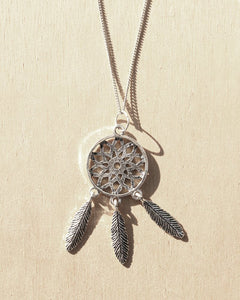 KV Handmade Jewellery Silver Dreamcatcher Necklace