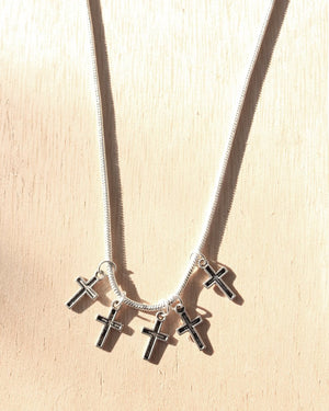 KV Handmade Jewellery Tiny Crosses Necklace