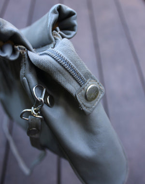 Vintage Grey Leather Bag