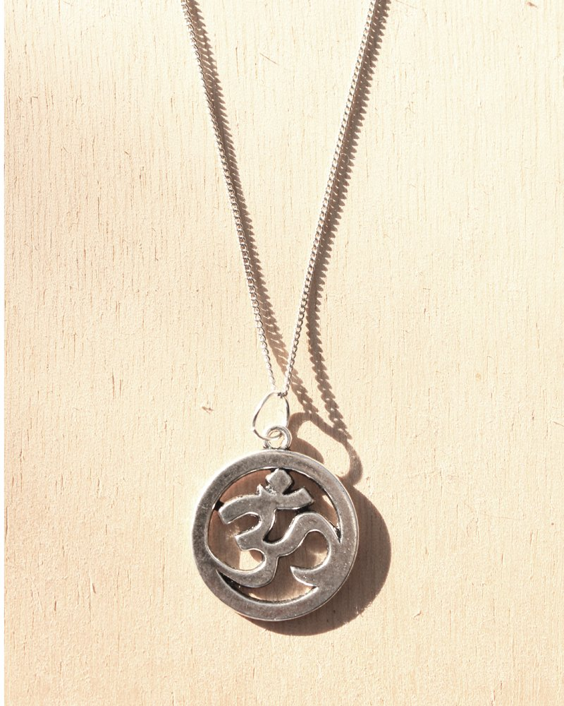 KV Handmade Jewellery Silver Om Necklace
