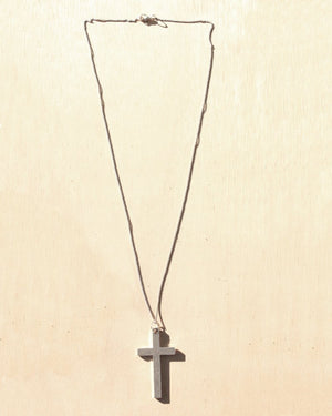 KV Handmade Jewellery Silver Cross Necklace