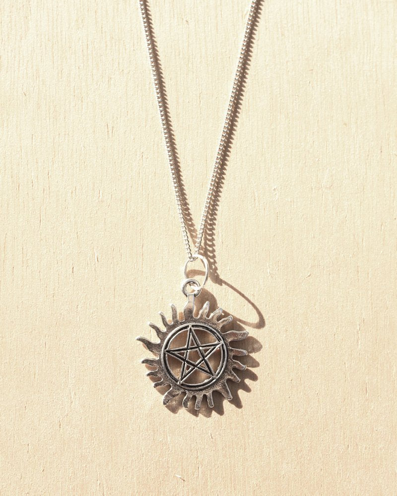 KV Handmade Jewellery Silver Sun Necklace
