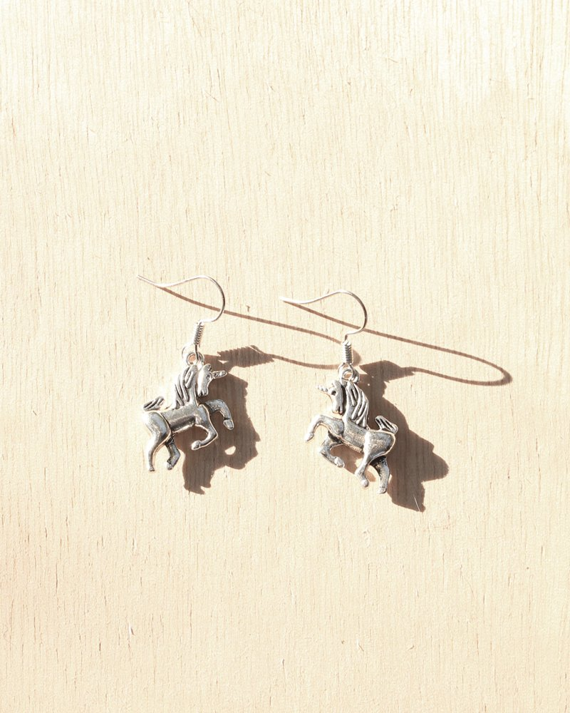 KV Handmade Jewellery Silver Unicorn Earrings