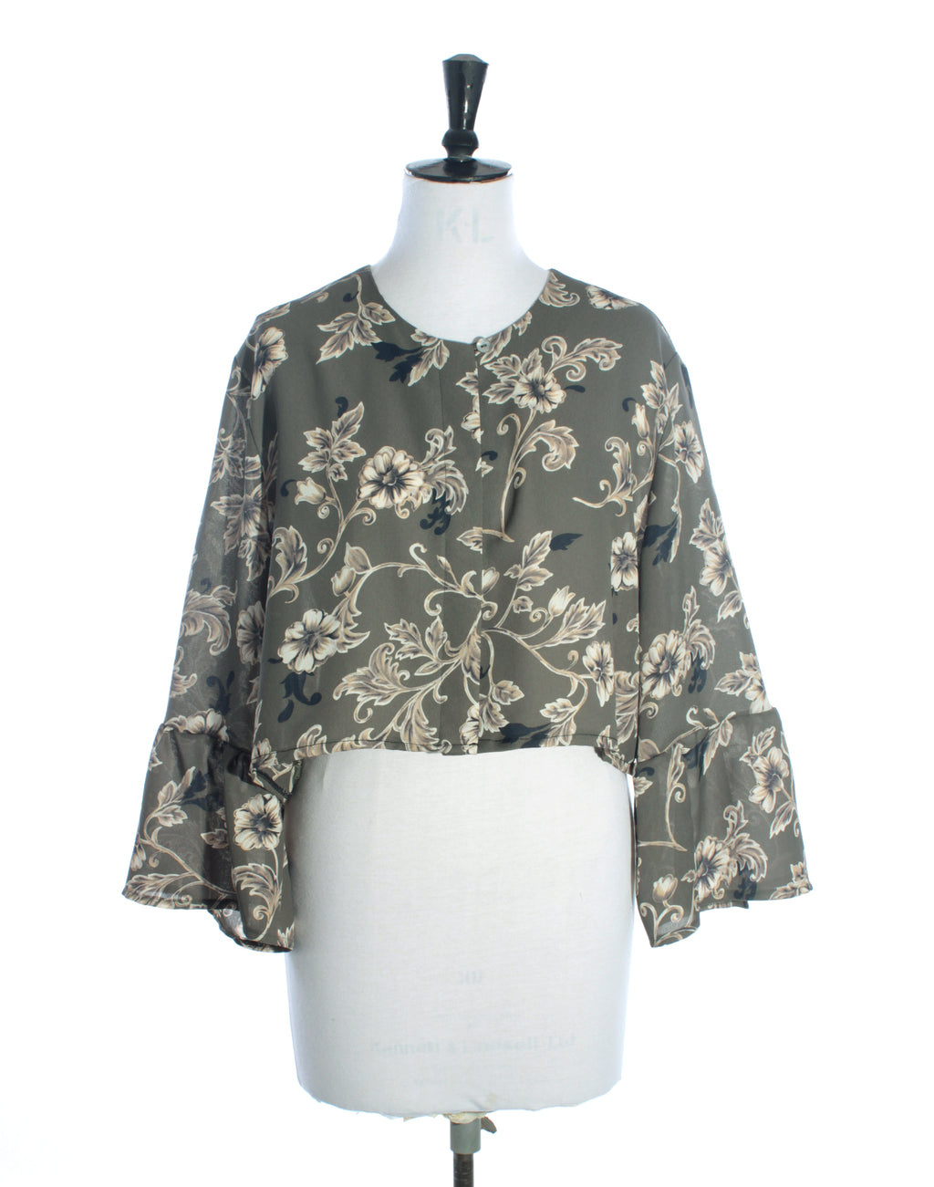 Green Floral Long Sleeve
