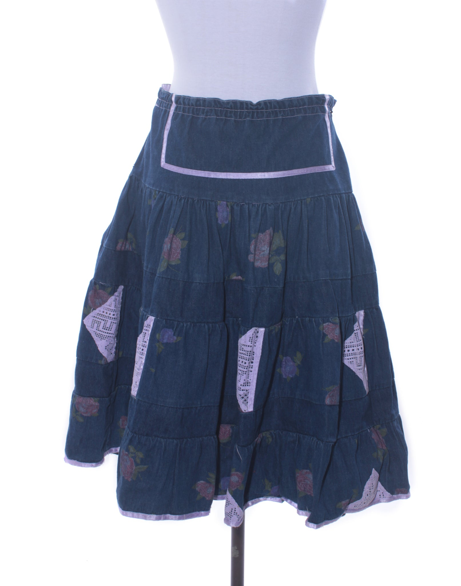 Vintage 80's Italian Denim Skirt