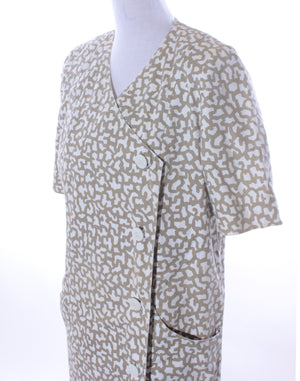 Vintage Squiggle Cotton Housecoat Dress