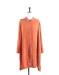 Vintage 90's Rust Orange Crinkle Oversize Shirt