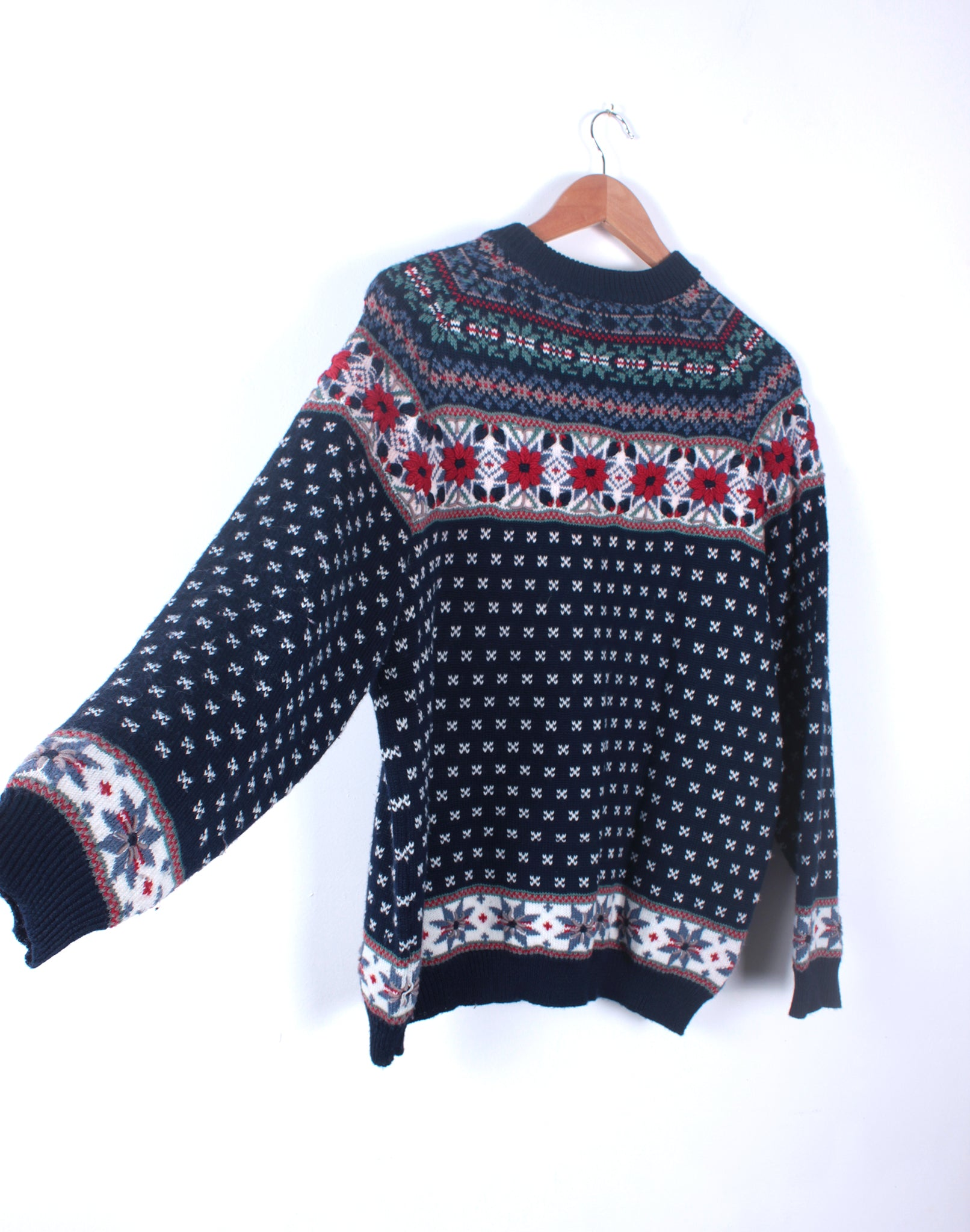 Vintage 80's Katies Navy Embroidered Jumper