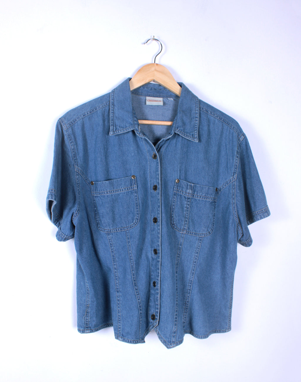 Vintage Denim Cropped Shirt
