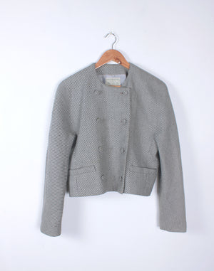 Vintage 80's Grey Wool Country Road Jacket