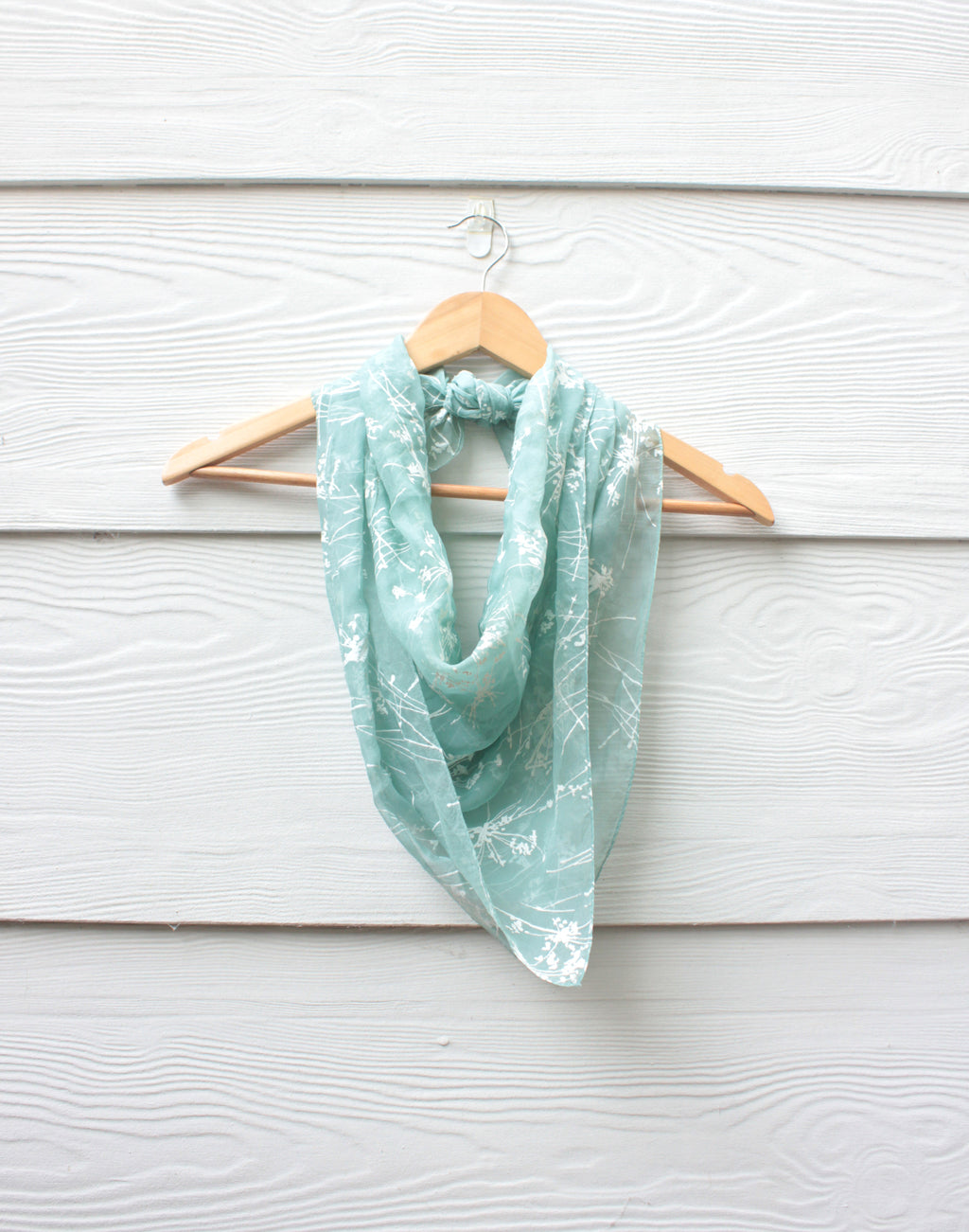 Delicate Painted Chiffon Vintage Scarf