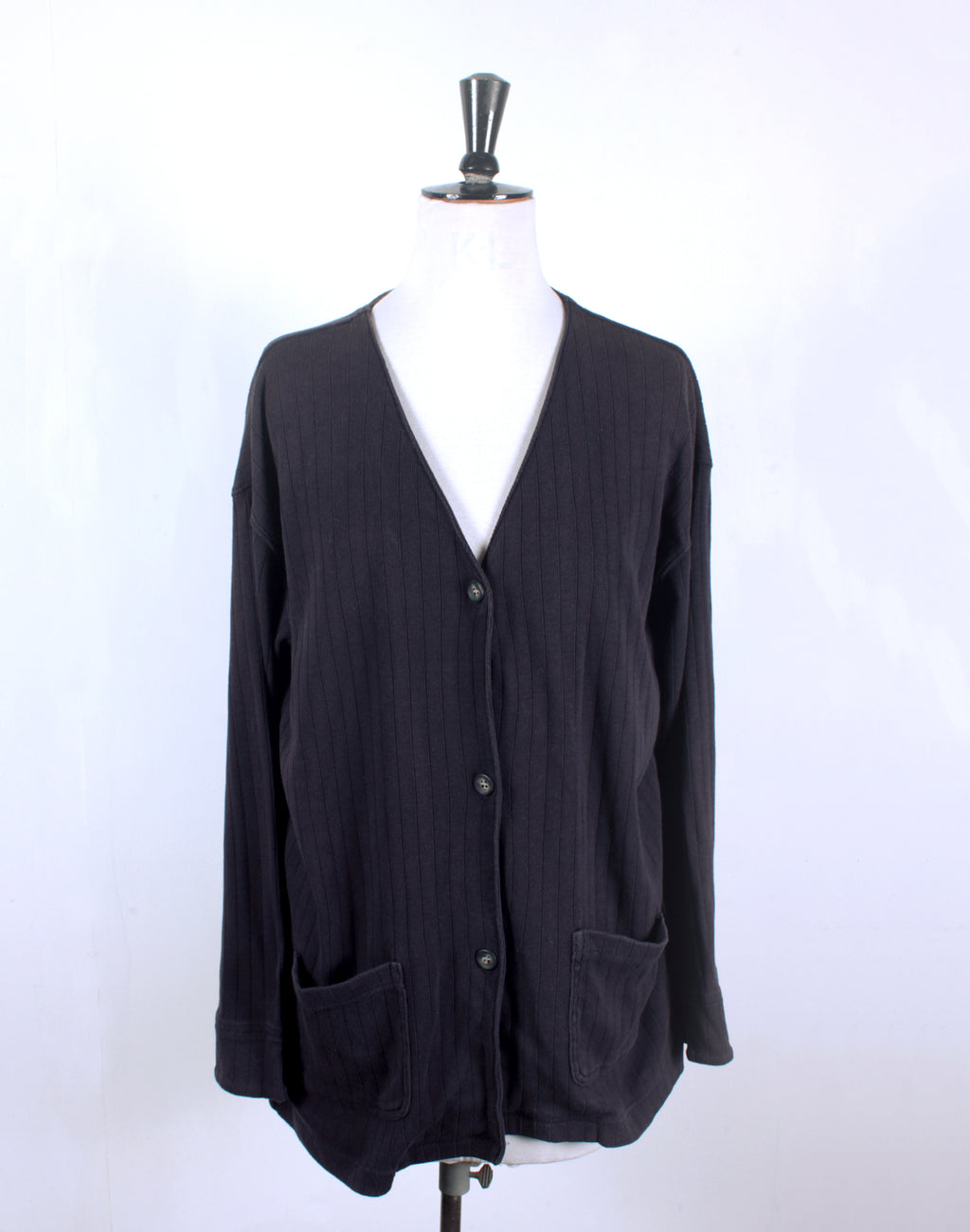 Navy Vintage 80's Country Road Jersey Cardigan