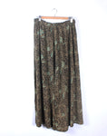Vintage Tree of Life Green Floral Wide Leg Pants