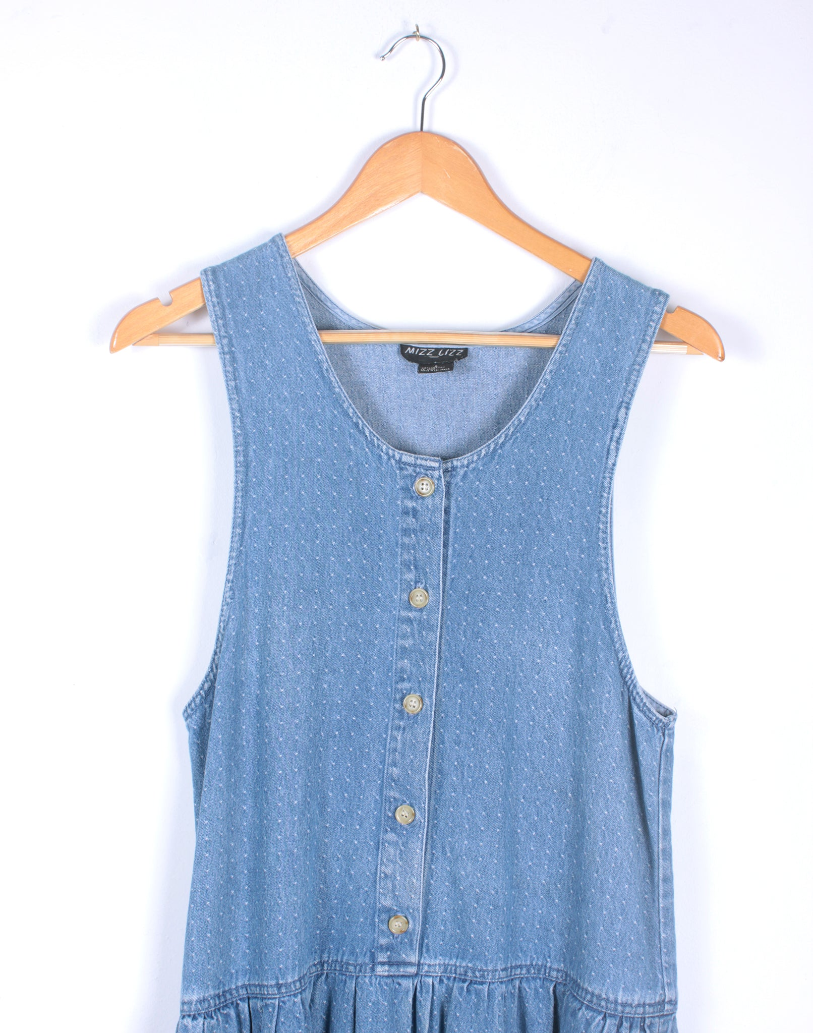 Vintage 80's Denim Drop Waist Dress
