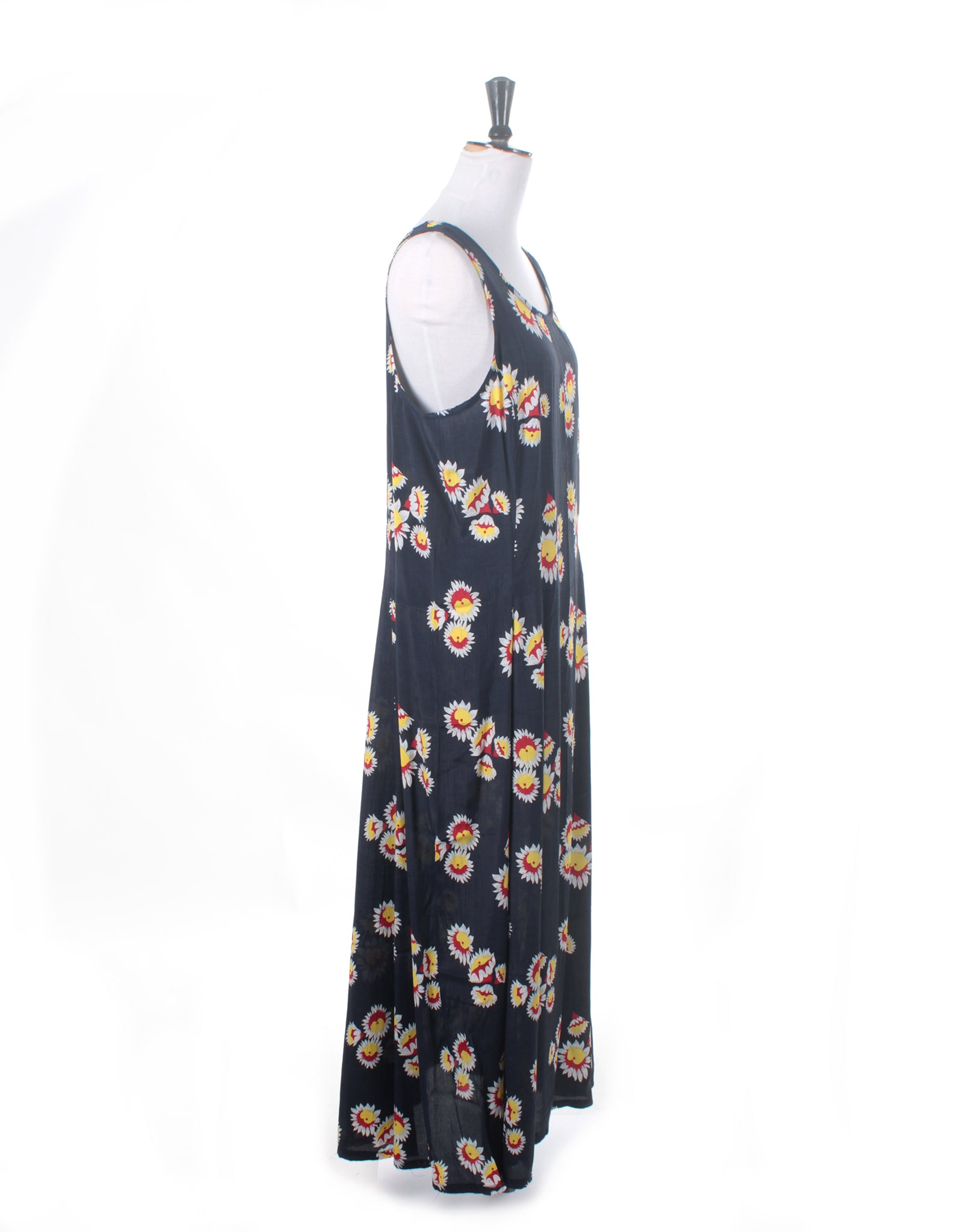 Vintage 90's Supre Navy Red Floral Maxi Dress