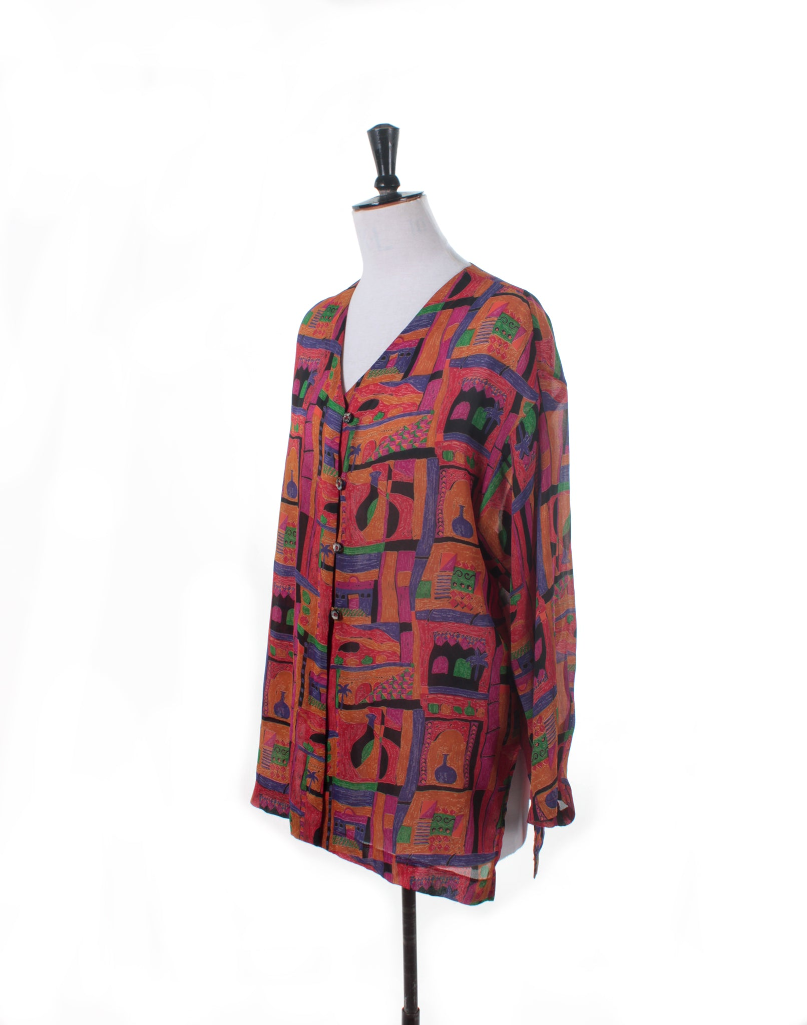 Vintage 80's Bright Coloured Print Shirt