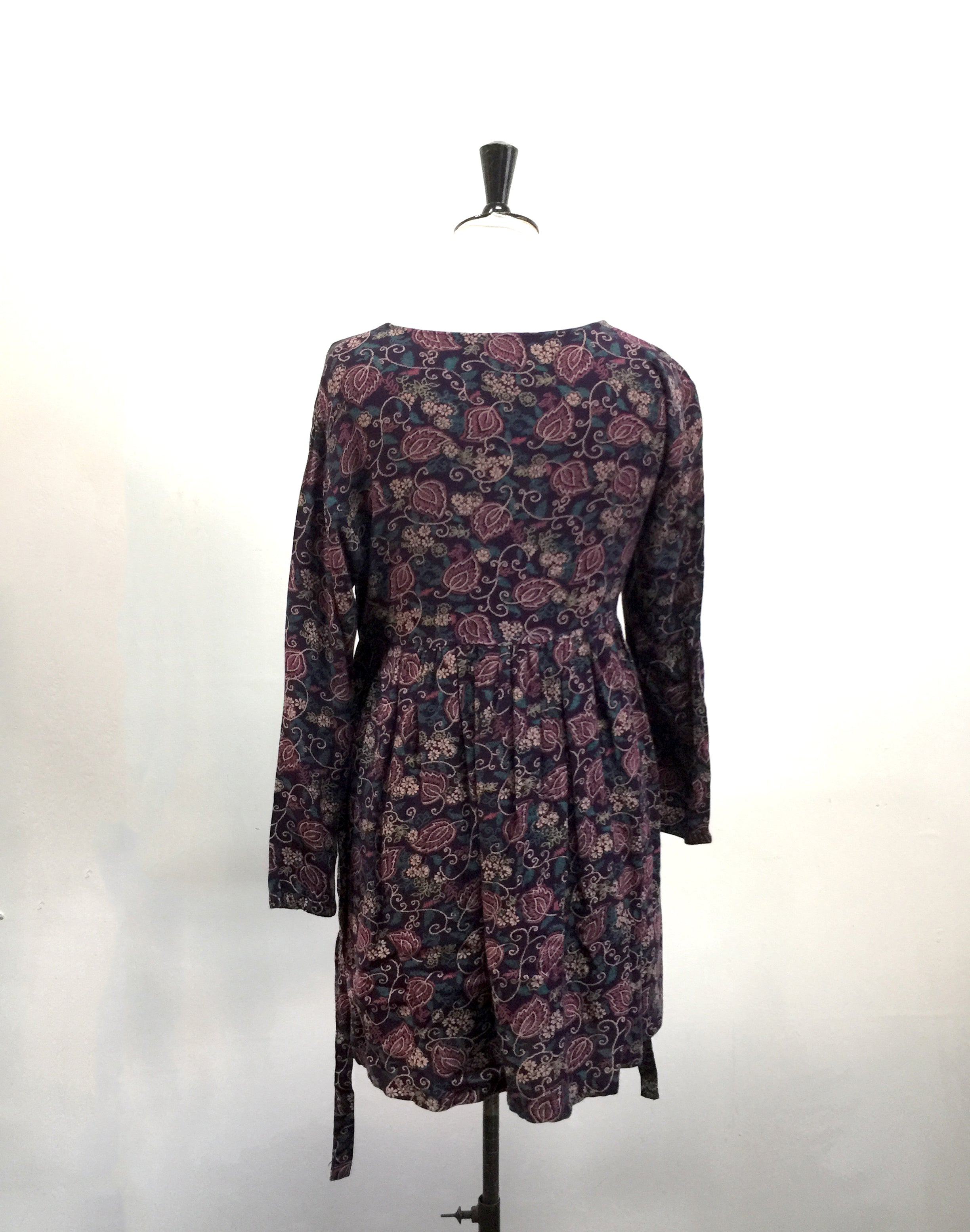 Vintage 90's Purple Floral Babydoll Dress