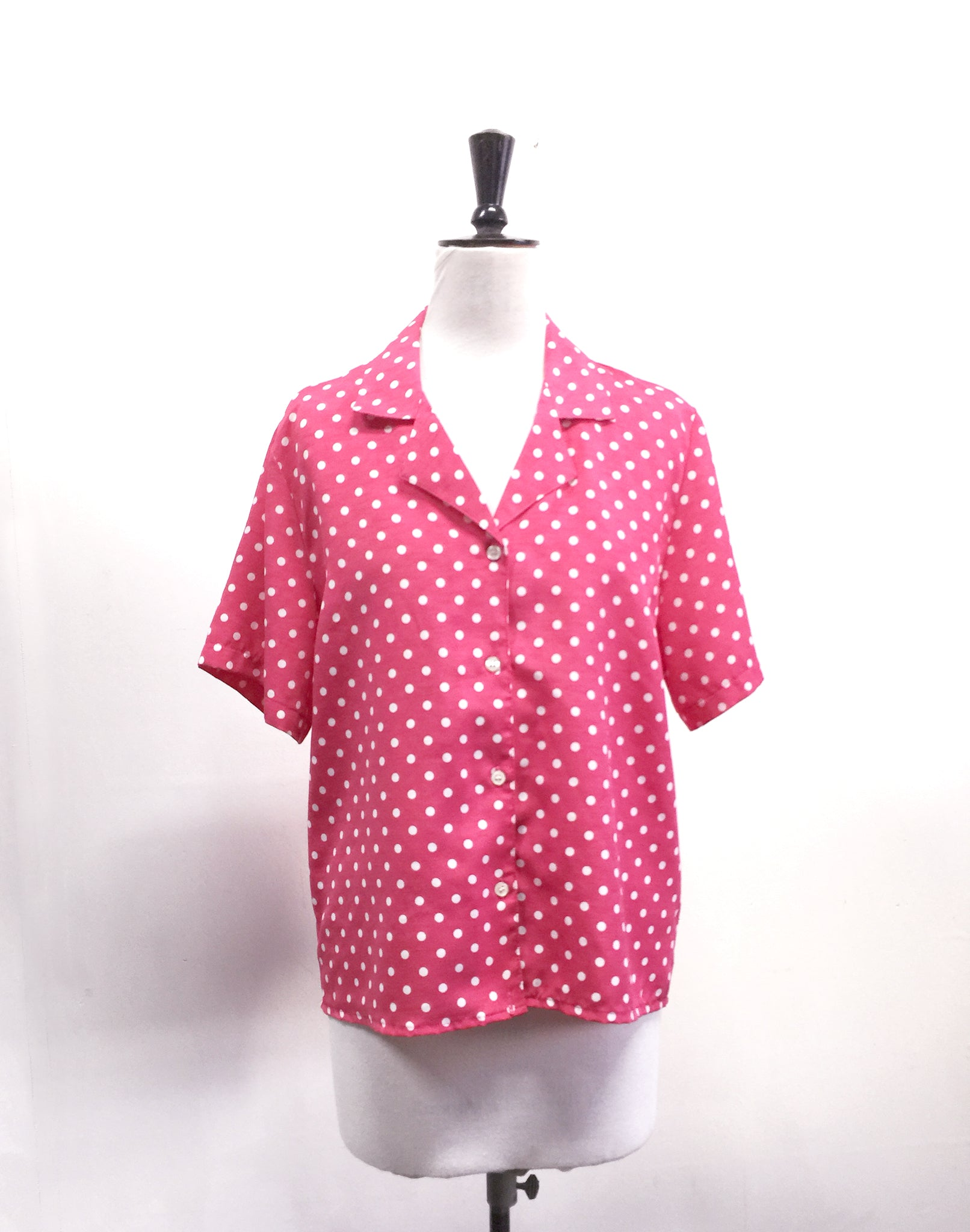 Pink Polka Dot Vintage 80's Katies Shirt