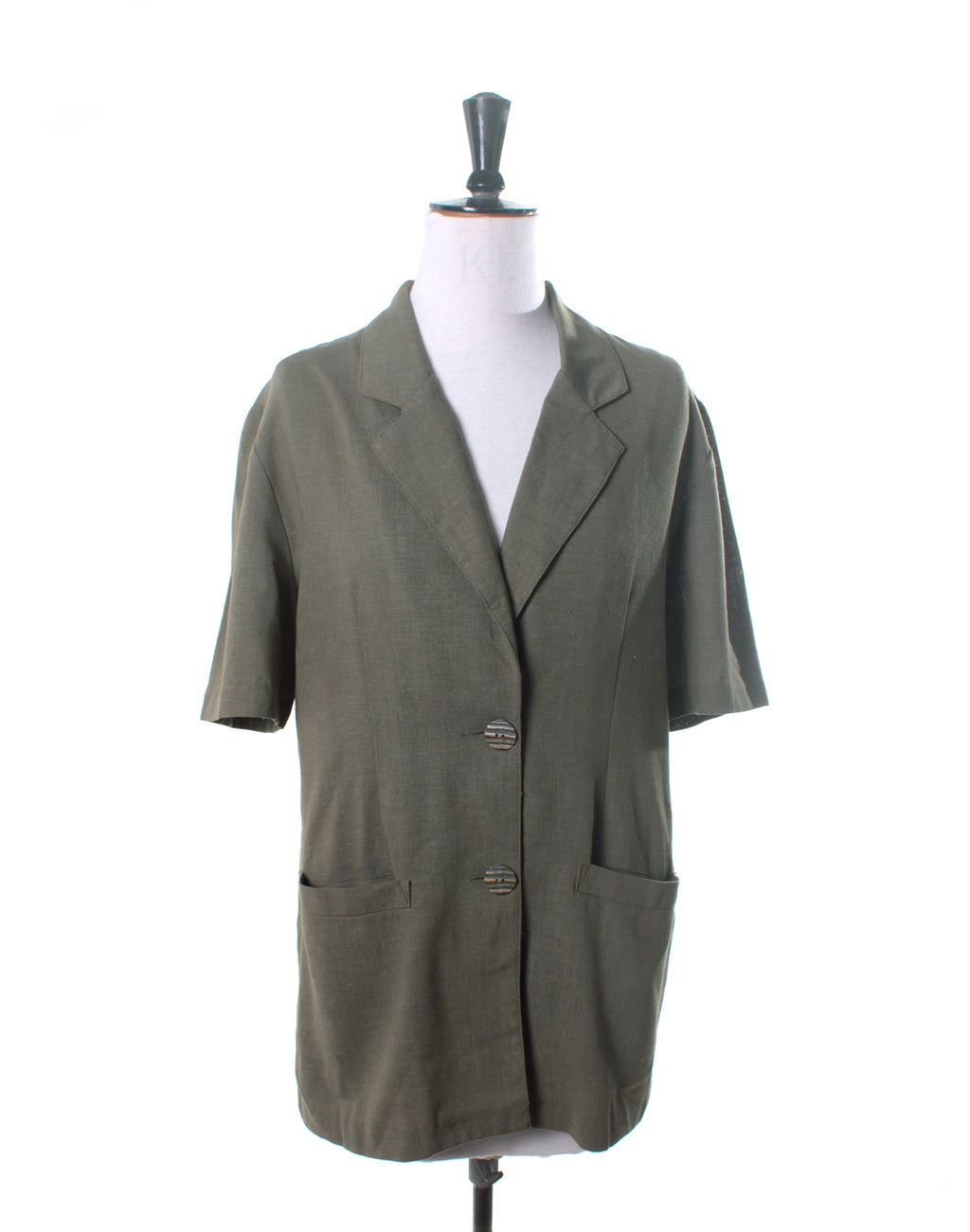Vintage 80's Katies Green Linen Jacket